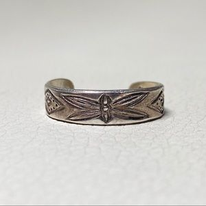 NWOT Butterfly Silver Adjustable Size Toe Ring